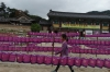 Lanterns on which you can hang your wishes, in the courtyard, Gayasan Haein Temple, South Korea