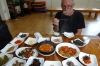 Couldn't possibly eat all this, vegetarian lunch at Gobawoo Restaurant near Gayasan Haein Temple, South Korea