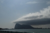 First view of Gibraltar from La Linea de la Concepcion