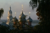 Cathedral and Volga River from our room in Kostroma RU.  Early morning.