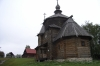 Church in the Museum of Wooden Architecture in Suzdal RU.  Most buildingS were moved, piece by piece here, as a way of preserving the artefacts of old peasant life in this region of Russia.