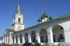 The arcaded central market with a merchant church in the center in Kostroma RU, which Catherine the Great created for many Russian towns.