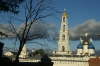 Bell tower and domes in the Trinity Monastery of St Sergius in Sergiev Posad RU.