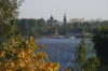 The Volga river at Yaroslavl RU.  Many Orthodox shrines and monasteries are scattered along the banks of the Volga.