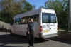 Slava and his bus - our driver on the Golden Ring RU.