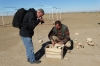 Bruce photographs some artefacts, Oleg looks on, Gonur Dep TM