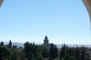 View to the Alhambra from Patio de la Acequia, Generalife, Granada ES