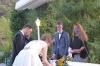 Signing the marriage certificate. Hayden & Andrea's wedding
