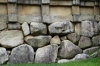 Natural rock foundations are earthquake proof, Gyeongju Bulguksa temple, South Korea