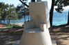 Sculptures on the path between Bol and Zlatni Rat beach
