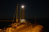 Full moon over the marina at Bol