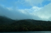 Blue sky from the Red Pirate Boat on Lake Ashi, Hakone, Japan
