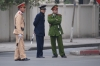 Three types of uniform on traffic control on Tran Phu and Hoang Dieu, Hanoi VN