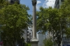 Columna de la Paz (Column of Peace 1867) in Plaza Cagancha, Montevideo UY