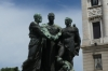Statues in front of Palacio Legislativo (Parliament House), Montevideo UY