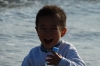 Little boy at the beach at Hase, Japan