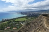 View to Honolulu. Lē'Ahi Diamond Head Crater Walk HI USA