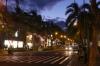 Kalakau Avenue at dusk, Waikiki HI USA
