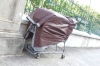 Commons sight in USA, so many homeless. This one in Iolani Palace, Honolulu HI USA