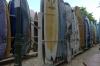 Surfboards on Waikiki Beach HI USA