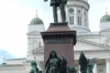 Alexander II statue in front of Helsinki Cathedral FI