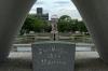 Cenotaph for the A-Bomb Victims, Peace Memorial Park, Hiroshima, Japan