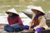 Local Hoi An people on the Thu Bon River, VN
