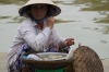 Food vendors on the Thu Bon River, Hoi An, VN