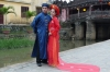 Wedding photos at the Japanese Bridge in Hoi An, VN