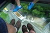 Riding the Crystal Cable Car from Tung Chung to Ngong Ping Big Buddha