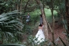 Bridal photography in the Victoria Peak Gardens, Hong Kong