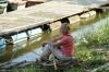 Taking a break by the river in Győr HU
