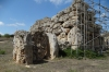 Temporary support for coservation. Ggantija Temples, Gozo Island, Malta