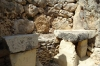 Temple on the right hand side. Ggantija Temples, Gozo Island, Malta