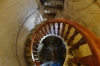 Staircase, looking down from mill. Ta' Kola Windmill, Xaghra, Gozo Island, Malta