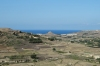 View from the Citadel, Victoria, including volcano. Gozo Island, Malta