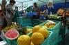 Fruit and vegetable stalls at the market in Marsaxlokk, Malta