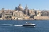 View towards St Paul's Pro-Anglican Cathedral in Valletta from Sliema MT