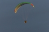 Paragliders over the Needles, Isle of Wight UK