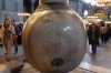 Hagia Sofia Museum, Istanbul.  Two giant marble jugs came from Pergamon in Turkey.