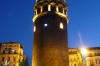 Galata Tower, Istanbul at night, Istanbul TR