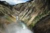 Brink of Lower Falls near Canyon Village, Yellowstone, WY