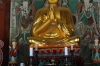 Buddha in the main temple, Seonunsa Temple, South Korea