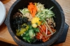 Bibimbap, rice & vegetables in a ceramic hotpot, Pung Namjeong Restaurant, Jeonju