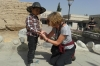 Fixing a little boy's cut finger, Jiayuguan