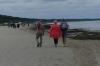 Seeking the sun and warmth. The long sandy beach at Jūrmala LV