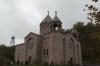 St. Mesrop Mashtots Church, consecrated 2001 & old mine shaft tower