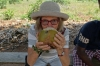 Enjoying coconut, Kidichi Spice Farm, Tanzania