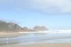 Very hazy Noetzie Beach, South Africa