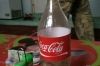 Coke bottles are reused in many places, near Davaza Gas Crater TM